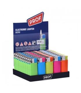 Accendino Elettronico Prof Mini conf. 50 pz. assortito con 5 colori