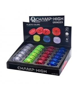 Grinder Champ Drum in Plastica 3 Parti Diam.42mm Expo da 8 pz. assortito con 4 colori