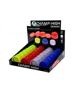 Grinder Champ Drum in Plastica 4 Parti Diam.60mm Expo da 24 pz. assortito con 4 colori