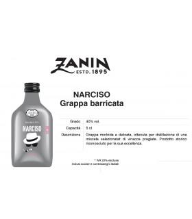 Distillati Mignon Zanin Narciso GRappa Barricata 40° da 5cl Cartone da 12 pz.