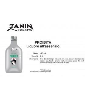 Distillati Mignon Zanin Proibita Liquore all'assenzio 40° da 5cl Cartone da 12 pz.