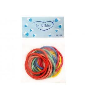 Elastici per Capelli Le Kikke Bustina 6pz. Diam. 4.5 cm colori assortiti conf. 12 bustine