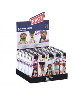 Accendino Elettronico Prof Funny Dog conf. 50 pz. colori assortiti