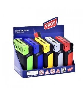 Accendino Elettronico Turbo Prof Fancy  conf. 25 pz. assortito con 5 colori