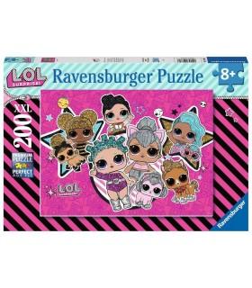 Puzzle Ravensburger 49x36 cm. 200 pz. L.O.L Girl Power Il Paese dei Dinosauri