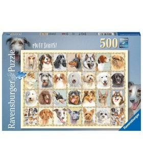 Puzzle Ravensburger 49x36 cm. 500 pz. Ritratti di Cani