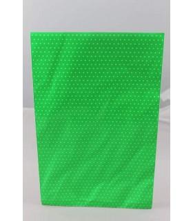 Buste regalo  double face(un lato lucido e uno opaco)misura 25x40 colore Verde conf. da 50 pz.