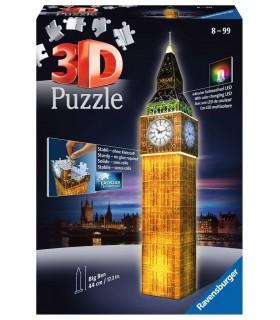 Puzzle Ravensburger 3D che si Illumina H.44 cm 216 pz. Big Ben