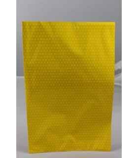 Buste regalo  double face(un lato lucido e uno opaco)misura 20x35 colore Giallo conf. da 50 pz.