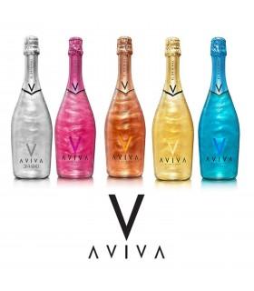 Bollicina AVIVA GOLD Aromatizzata a Base di Vino  5° Bottiglia da 75 CL Ideale per re