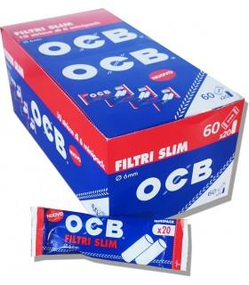 Filtrini OCB slim 6mm. in bustina conf. 60 bustine da 20 filtri