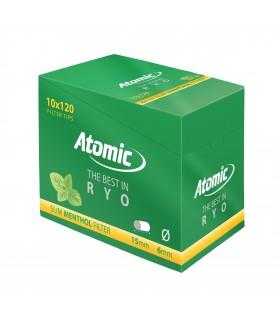 Filtri Atomic Slim 6mm al Mentolo in Bustina conf. 10 buste da 120 filtri