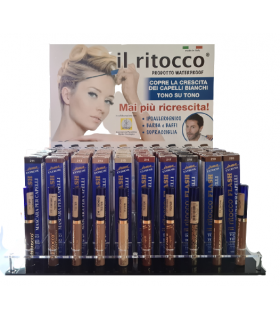 Mascara per Capelli Waterprof da 10ml + TESTER Expo da 60 pz. assortito con