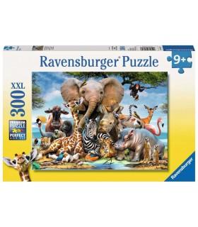 Puzzle Ravensburger 49x36 cm. 300 pz. Amici Africani