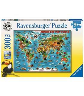 Puzzle Ravensburger 49x36 cm. 300 pz. Animali nel Mondo