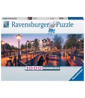 Puzzle Ravensburger 70x50 cm. 1000 pz. Una Sera ad Amsterdam