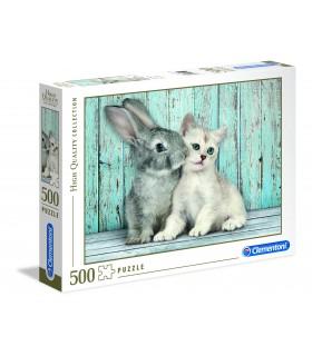 Puzzle Clementoni Collection  500 pz. Cat&Bunny