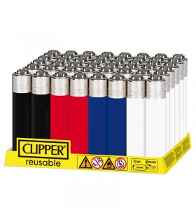 Accendino Clipper SLIM Color Mix Ataque conf. 48 pz. assortiti con 4 grafiche