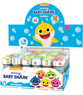 "Bolle di Sapone Dulcop ""Baby Shark"" da 60ml confez. 36 pz."