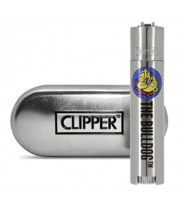 Accendino Clipper Large in Metallo The Bulldog Deluxe Expo da 12 pz.