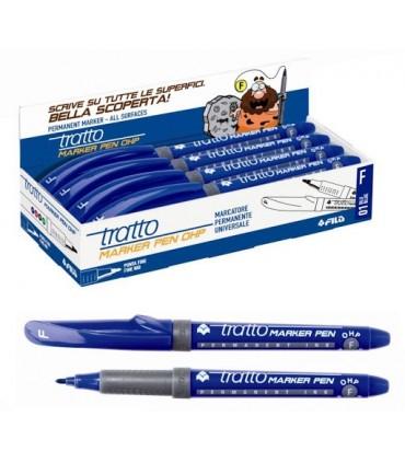 Tratto Marker Pen OHP F conf. da 8 pz. colore blu