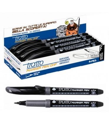 Tratto Marker Pen OHP F conf. da 8 pz. colore Nero