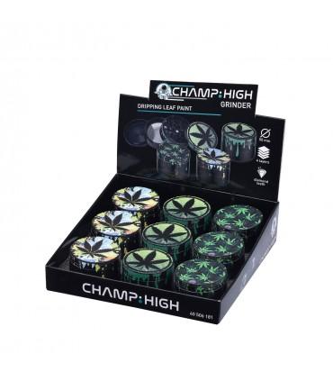 Grinder Champ in Metallo Leaf 4 Parti Diametro 50mm Expo da 9 pz. assortito