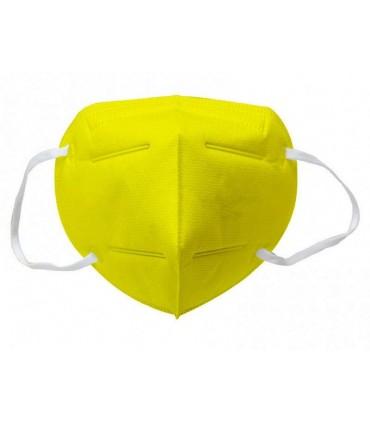 Mascherina Autofiltrante FFP2 CE 2233 colore GIALLA conf. 20 pz (blisterate singolarmente)