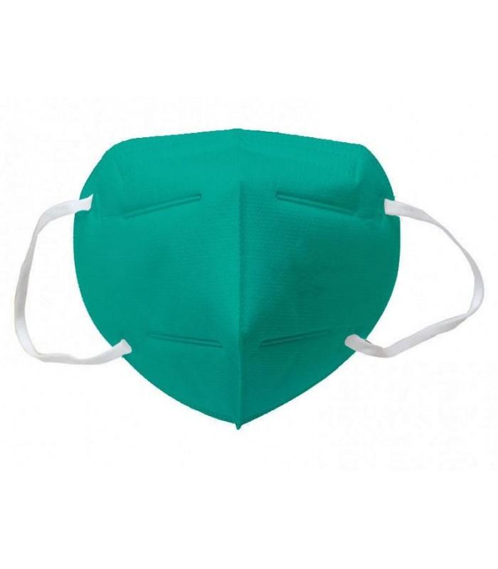 Mascherina Autofiltrante FFP2 CE 2233 colore VERDE ACQUA conf. 20 pz (blisterate singolarmente)