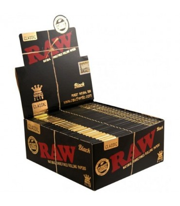 Cartina Raw Black KS Slim conf. 50 libretti da 32 cartine