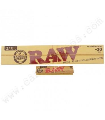 Cartina Raw Huge Lunga Naturali mis.28x44mm conf. 20 libretti da 20 cartine