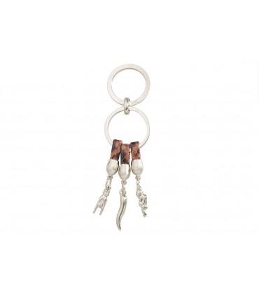 Portachiavi Predan in Metallo Smaltato Portafortuna Confezionato in scatola regalo