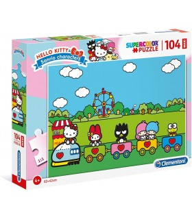 Puzzle Supercolor Clementoni Maxi 104 pz. Hello Kitty