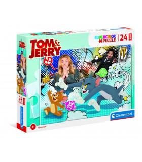 Puzzle Supercolor Clementoni Maxi 24 pz. Tom and Jerry