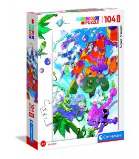 Puzzle Supercolor Clementoni Maxi 104 pz. Super Friends