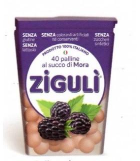 ZIGULI' PALLINE AL SUCCO DI MORA ASTUCCIO 24gr: CONF. 6 PZ.