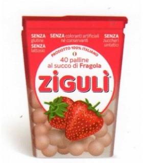 ZIGULI' PALLINE AL SUCCO DI FRAGOLA ASTUCCIO 24gr: CONF. 6 PZ.