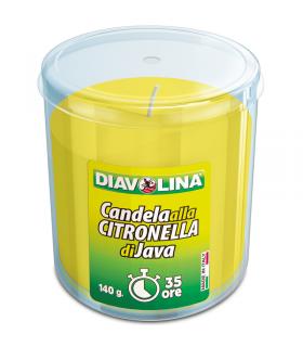 Diavolina Candela alla Citronella di Giava 140 Grammi Durata 35 Ore (per interni)