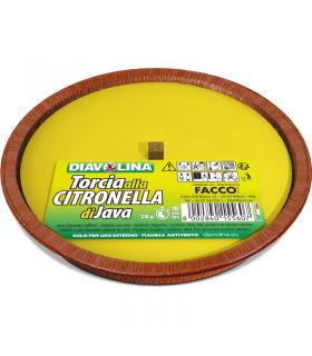 Diavolina Torcia alla Citronella di Giava Diam. 16 cm Durata 10 Ore (per esterno)