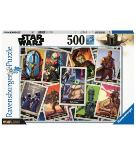 Puzzle Ravensburger 49x36 cm. 500 pz. Star Wars The Mandalorian