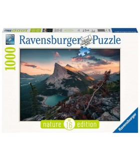 Puzzle Ravensburger 70x50 cm. 1000 pz. Tramonto in Montagna