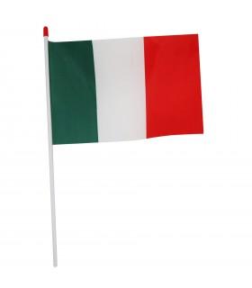 Bandierina Italia in PVC con Asta Misura  30x20 cm
