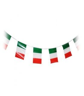 Filare 10 Metri con 24 Bandierine Italia in PVC