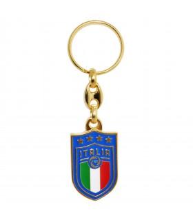 Portachiavi in Metallo Dorato Smaltato Italia