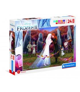 Puzzle Supercolor Clementoni Maxi 24 pz. Disney Frozen 2