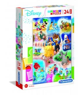 Puzzle Supercolor Clementoni Maxi 24 pz. Disney Dance