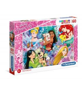 Puzzle Supercolor Clementoni 60 pz. Disney Principesse