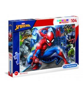 Puzzle Supercolor Clementoni 104 pz. Spider Man