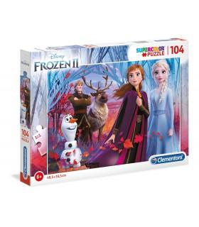 Puzzle Supercolor Clementoni 104 pz. Disney Frozen 2