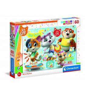Puzzle Supercolor Clementoni Maxi 24 pz. 44 Gatti